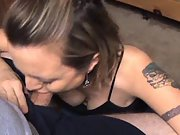 She loves to deep throat my cock all the way